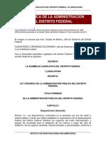 Ley orgánica cdmx