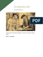 Fausto y La Naturaleza Del Símbolo Masónico