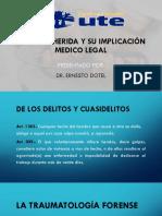 DIAPOSITVA DE Golpes y herida y su implicación medico legal