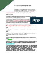 Etica y Protocolo Del Programa Local