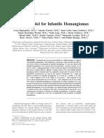 Propranolol for Hemangioma