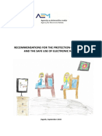 Recommendations for the Protection of Children and the Save Use of Electronic Media