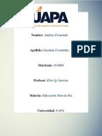 Tarea 3 de Educacion Para La Paz