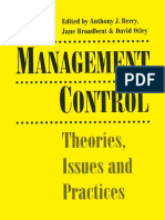 Management Control - Theories, Issues and Practies