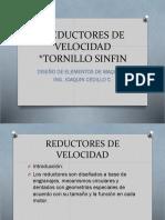 REDUCTORES DE VELOCIDAD Y TORNILLO SIN FIN