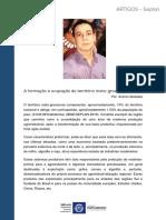 Formação e ocupação de Mato Grosso