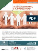 Afiche Charla Enfoque de Derechos Humanos Aportes Al Trabajo Social
