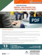 Afiche Conversatorio Sobre Salud Mental 2017