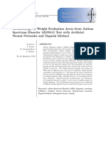 Methodology to Weight Evaluation Areas from Autism Spectrum Disorder ADOS-G Test with Artificial Neural Networks and Taguchi Method.pdf