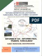 PUENTE YUNCULMAS - VOL. 07 - PRESUPUESTO DE OBRA Y ANALISIS DE PRECIOS UNITARIOS.pdf