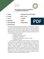 P-4 Prontuario Cuarto Grado español