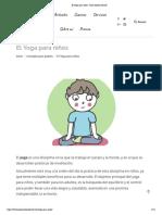 El Yoga para niños - Psico Ayuda Infantil