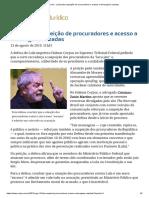 ConJur - Lula Pede Suspeição de Procuradores e Acesso a Mensagens Vazadas