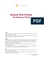 Musical Time Periods:
