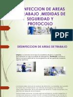 Desinfeccion de Areas de Trabajo ,Medidas De