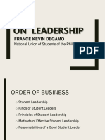 On Leadership - Usc Discussion 1.0