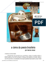 A cisma da poesia brasileira