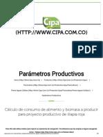 Parametros Productivos _ Alimentacion Para Peces Aguas Cálidas _ CIPA