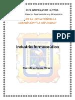 Cuestionario Industria Farmaceútica