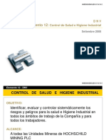 Control de Salud e Higiene Industrial