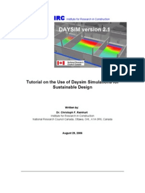 DaysimTutorial[1] | Lighting | Leadership In Energy And