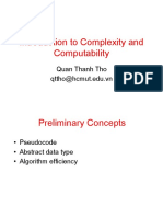 Introduction to Complexity Computational 2019