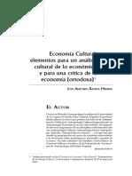Batista, J. (2006). Economía cultural
