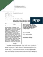 UEP Trust's Opposition to Motion to Depose Warren Jeffs