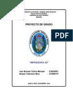 Proyecto de Grado Impresora 3d