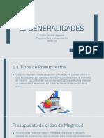 Generalidades Presupuestación