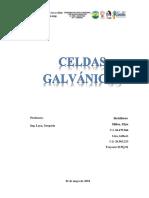 CELDAS GALVÁNICAS