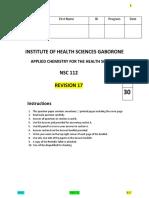 Chem NSC 112 Revision 17