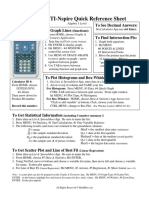 Quick Reference Sheet Nspire