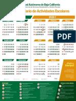 Calendario actividades UABC 2019 a 2020