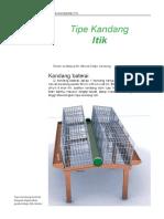 Tipe Kandang Itik TIPE KANDANG ITIK. Dalam Budidaya Itik Dikenal 3 Tipe Kandang. 60 Cm. 60 Cm - PDF