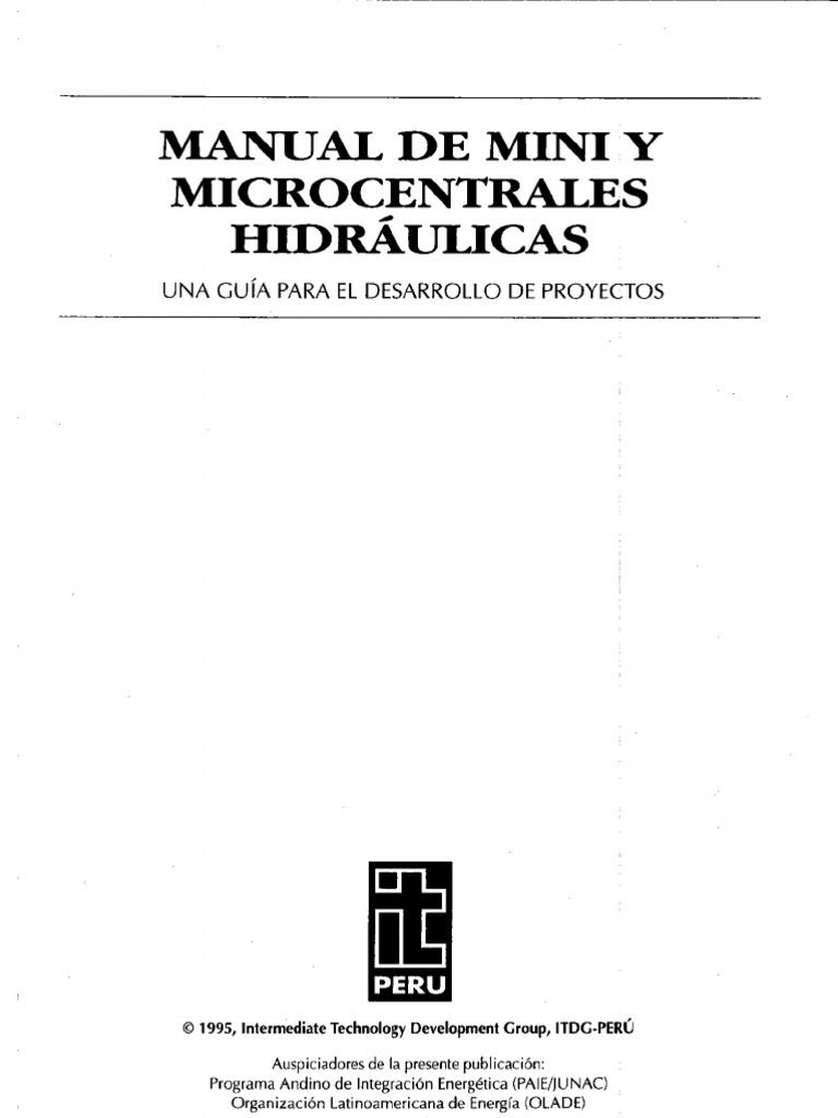 Manual de Mini Microcentrales Hidraulicas
