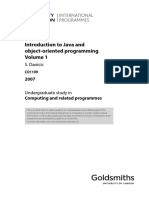 Introduction to Java Object Oriented Computing