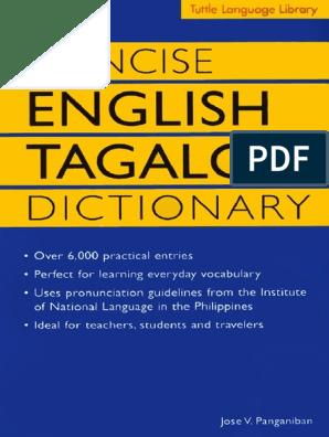 Concise English Tagalog Dictionary Stress Linguistics Tagalog Language