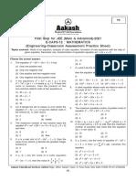 Sheet from aakash