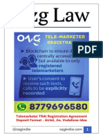 Telemarketer TRAI Registration Agreement Deposit Format - Airtel, Jio, Vodafone-Idea - Ozg India