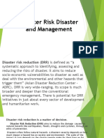 Disaster Risk Disaster and Management