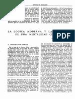 LA LÓGICA MODERNA Y LA FORMACIÓN DE UNA MENTALIDAD CIENTÍFICA
