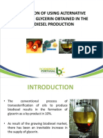 Evaluation of Using Alternative Routes of Glycerin Obtained in the Biodiesel Production