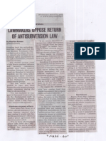 Philippine Daily Inquirer, Aug. 14, 2019, Lawmakers oppose return of antisubversion law.pdf