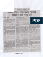 Philippine Star, Aug. 14, 2019, House panel approves refiled alcohol tax hike bill.pdf