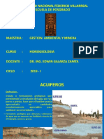 Acuiferos - HIDROGEOLOGIA MINERA