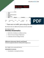 Phsyics Revision Notes