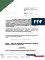 Reglamento Para Reconocimiento y Certificacion de Aprendizajes Previos