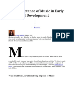 The Importance of Music in Early Childhood Development