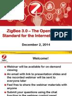 Webinar ZigBee 3-0 Launch FINAL